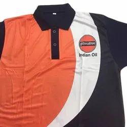 Nylon Half sleeves Petrol Pump Uniform T Shirt