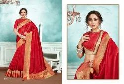 Party Wear Saree Cotton Looks 2