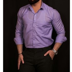 Full Sleeves Cotton Men Designer Plain Shirt