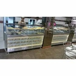 SS Curved Glass Counter