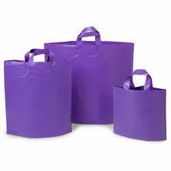 Purple Plain Shopping Plastic Bag, Capacity: 5 Kg