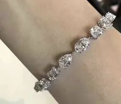 Fancy Cut Moissanite Diamond Bracelet