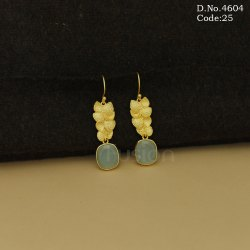 Stone Studded Hanging Earrings
