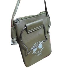 Ladies Green Rexine Mobile Bag