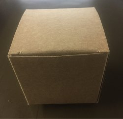 Brown Square Plain Kraft Soap Box