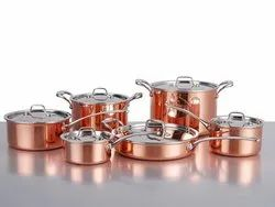 Copper Cookware Set And Serving Set