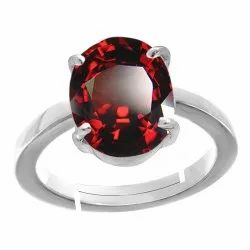 Hessonite Garnet Stone With Ring Silver Gemstone