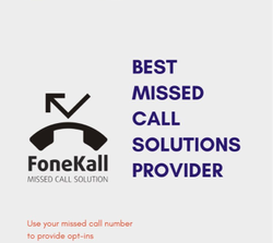 Missed Call Service ( Your Own Number ) Can Be Used