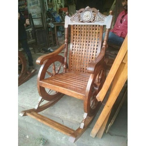 Tremendous Wooden Rocking Chair Polished Wooden Rocking Chair Gmtry Best Dining Table And Chair Ideas Images Gmtryco