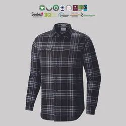 Casual Wear Grs Recycle Cotton Mens Flannel Shirts