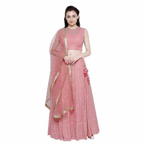 73588cfb4d Party Wear Georgette Lakhnavi Lehenga Choli, Dupatta Fabric: Net, Rs ...