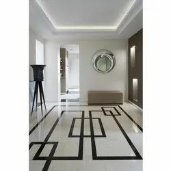White Polished Marble Floorings, Thickness: 10-15 mm