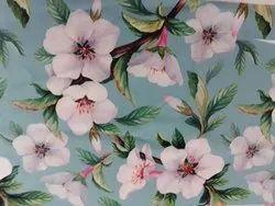Digital Print 100% Silk Crepe Printed Fabric
