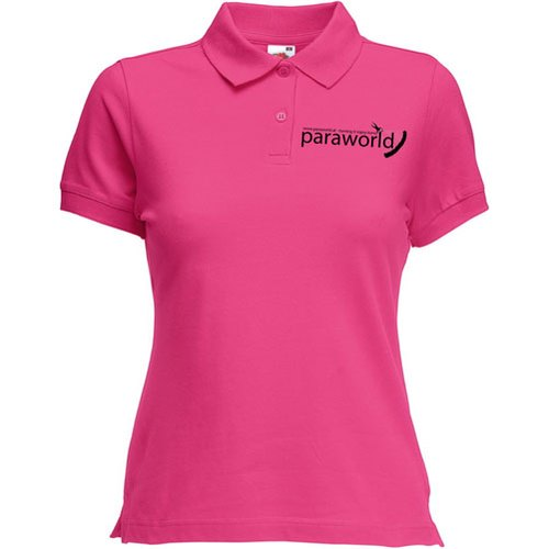 Pink Cotton Ladies Corporate T Shirt
