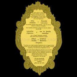 Black Mirror Acrylic Invitation Card, Size/Dimension: 5.25