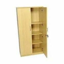 5 Feet Brown Wooden Office Almirah, No. Of Doors: 2 Door, No. Of Shelves: 4 Shelves