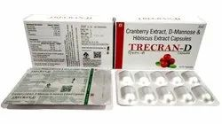 Trecran-D Cranberry Extract & D-mannose Capsules, Packaging Size: 3 X 10, Packaging Type: Blister