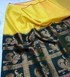 mukunda Red Tanchoi Silk Fabric