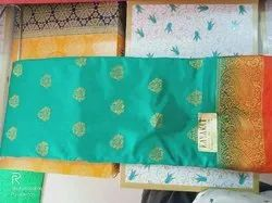 Party Wear Printed Banglore Silk Saree, 6.3 m (with blouse piece)