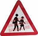 Plastic Traffic Sign Board Retro Reflective, Dimension: 900 X 900mm