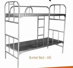 Stainless Steel Modern Double Bunk Bed, For Hotel and Hostel
