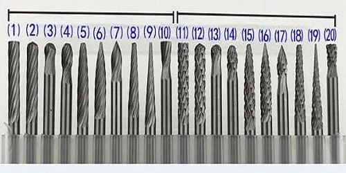 Carbide Rotary Burr 20 Pcs Set Different Shapes As Well As Particular Shape