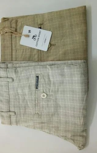 Checked Mens Checks Cotton Pant