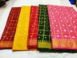 Cotton Bandhani Gharchola Saree