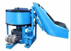 Hydraulic Hopper Door Open Pan Mixer Machine