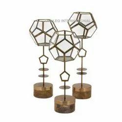 Geometric Metal Terrarium