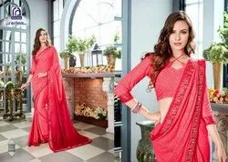 Rachna Georgette Smilez Catalog Saree Set For Woman 8