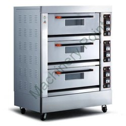 Three Deck Six Tray Electric Bread Baking Oven, Deck Oven