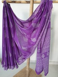 Bagru Hast Kala Printers Printed Bagru Cotton Saree, 5.2 M (separate Blouse Piece)