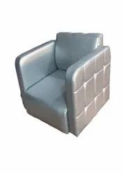 APL Silver, Gray Salon Sofa Chair, Without Footrest