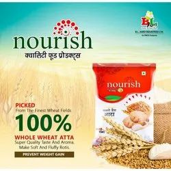 Whole Wheat Nourish Chakki Fresh Atta, Speciality: High in Protein