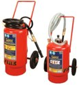 Safex Trolley Mounted ABC Type Fire Extinguishers -75kg Outside Cylinder Type