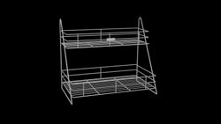 Stainless Steel 12.25 In Container Rack, Capacity: 100 Kg