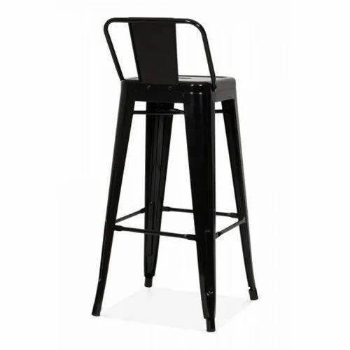 Enjoyable Tolix Style Metal Bar Stool With Back Uwap Interior Chair Design Uwaporg