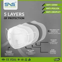 Disposable Sns Safe n Secure N95 Mask Number of layers - 5  Layers
