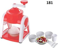 Ice Gola Slush Maker Ice Snow Maker Machine with 3 Bowl, 1 Glass, 6 Sticks and 1 Dish