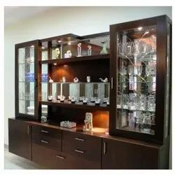 Brown Standard Bar Cabinet And Rack, Size: 6 Feet