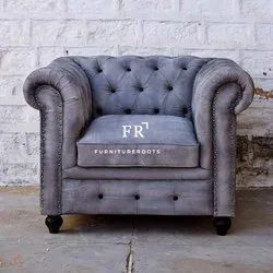 Resort Furniture - Designer Chesterfield Sofa Single Seater Armchair - Hotel Armchairs