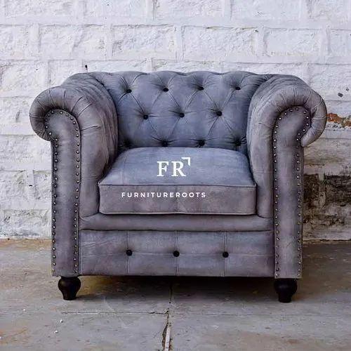 Resort Furniture - Designer Chesterfield Sofa Single Seater Armchair - Hotel Armchairs