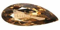 Smoky Quartz Pear Cut Gemstone