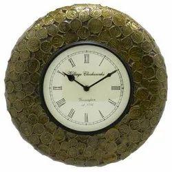 Coins Handmade Wall Clock