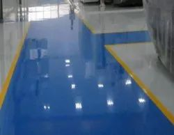 Commercial Building Epoxy Flooring Services, For Indoor, Chemical Resistant