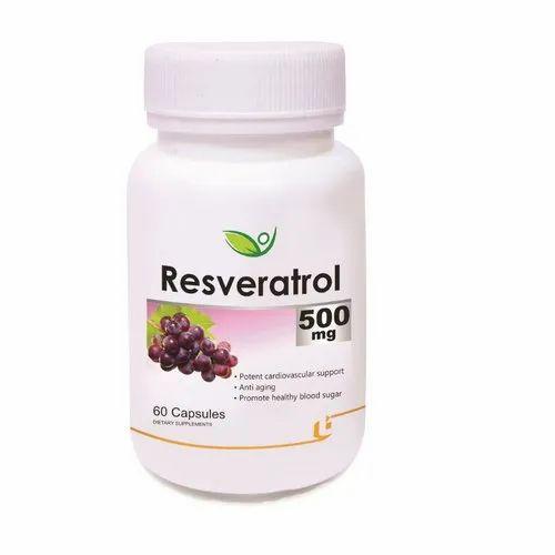 Biotrex Resveratrol 500mg Capsules Packaging Size 60 Capsules