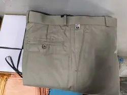 Regular Fit Gray Men Formal Pants, Machine wash