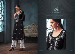 Tzu Presents Hayaat Kurti With Palazzo Embroidered Ethnic Collection