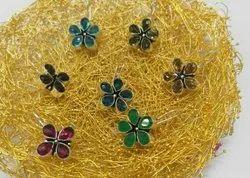 Colour Stone Studs Earrings